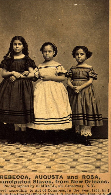 The Emancipation of Rebecca, Augusta & Rosa | 1863. by Black History Album on Flickr.