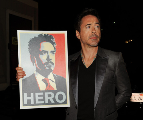 RDJ is my hero. or uh, tony stark is my hero. — either way works really ;)