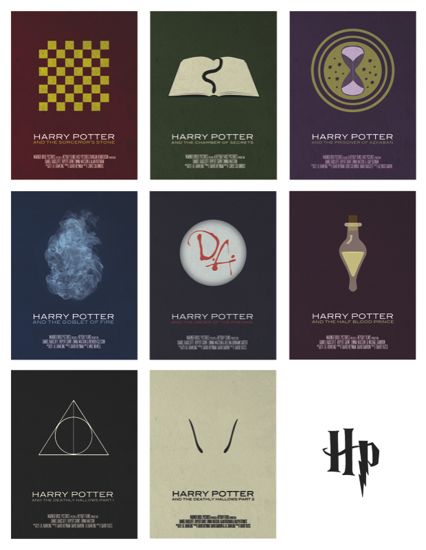 Harry Potter movie poster series by Vincent Gabriele