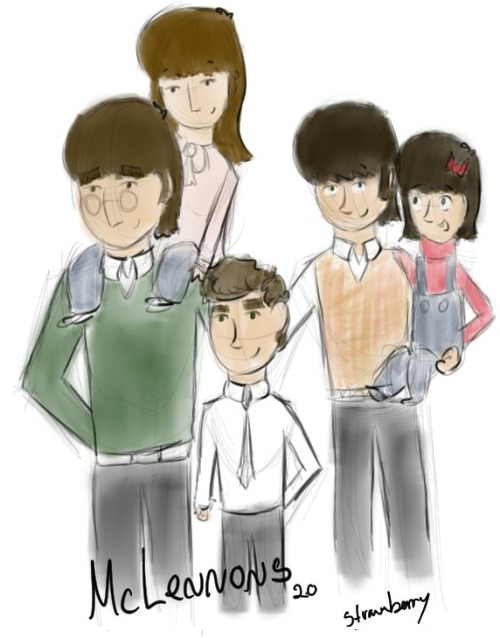 The new family pic of the Mclennons based on: http://im-not-crazy-just-beatlemaniac.tumblr.com/Theirperfectworld