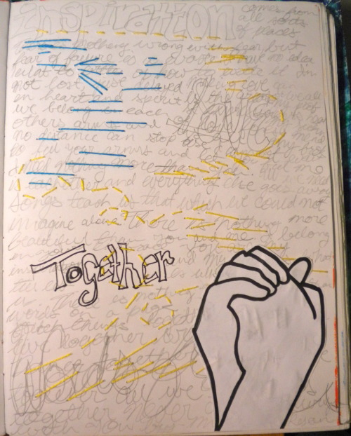 "lifeofanonartist:  ""Together"" So this was born from #art journal challenges.  This is my Challenge #4.  This is probably one of my favorite things I've posted on this blog :P"