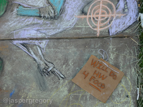Sidewalk Art at Occupy Oakland