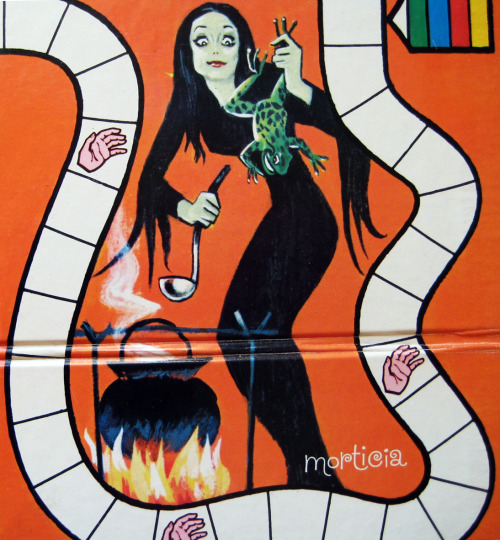 Morticia Addams from the Addams Family Board Game- 1964