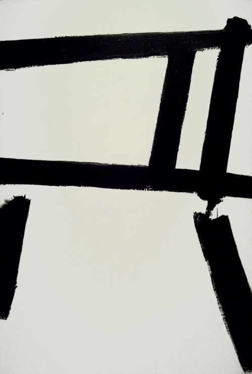 ahnini:  White Forms (1955) by Franz Kline