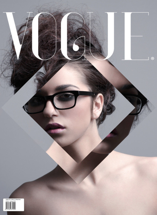 So simple, but so nice. Vogue design cover.