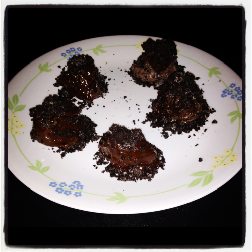 Just made these Oreo truffles…can't wait for them to set!!