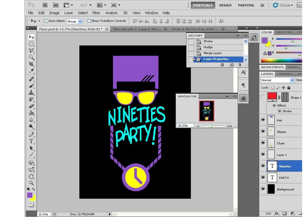 I'm working on a flyer for my homies birthday party. It's 90s themed. Almost done. What you think and do you have anything to add on?