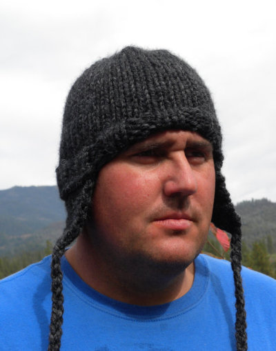 (via For Hard to Please MenHand Knit Guy Hat With by PetalknitsFashion)