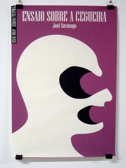 Blindness by José Saramago.Poster by Elmer Sosa Herrera (2009). Found here.