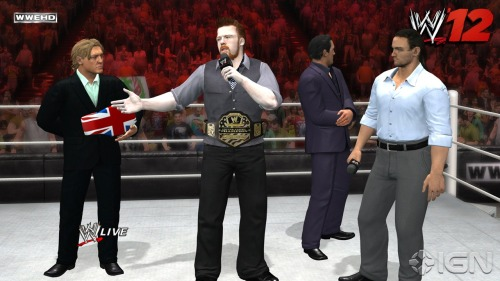 WWE '12 A European stable of Sheamus, Drew Mac, William Regal and Wade Barrett, Wanting to get rid of the US title and replace it with the European…. This game suddenly got a whole hell of a lot better!  Credit: http://uk.xbox360.ign.com/articles/121/1210005p1.html