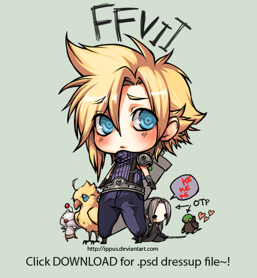 FFVII: Cloud and dressups by =ippus