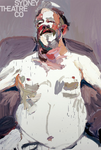 "Sydney artist Ben Quilty, winner of the 2011 Archibald Prize, painted this for Sydney Theatre Company's upcoming production of The Histrionic. His use of colour is stunning. It made me think of the connection of energy, expressiveness and communication from the inner self. My appreciation of the painting is partly informed by an Elizabethan understanding of acting as consisting of controlling the four bodily ""humors"". Read more:Noga Arikha (2007). Passions and Tempers: A History of the Humours. New York: Ecco."