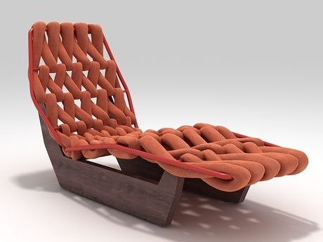 Chaise Biknit by Patricia Urquiola for Moroso. (really cool)