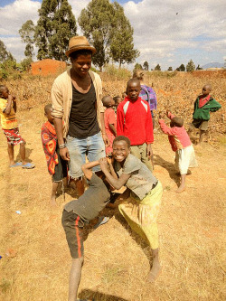 Me and my little friends in Malawi, miss u all