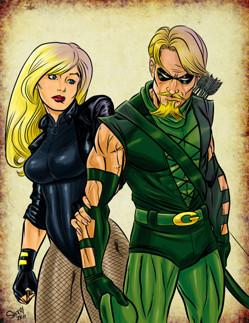 roxannameta:  youramazonsister:  Green Arrow and Black Canary by ~SketchyMcDrawpants  Oooooh I love this.