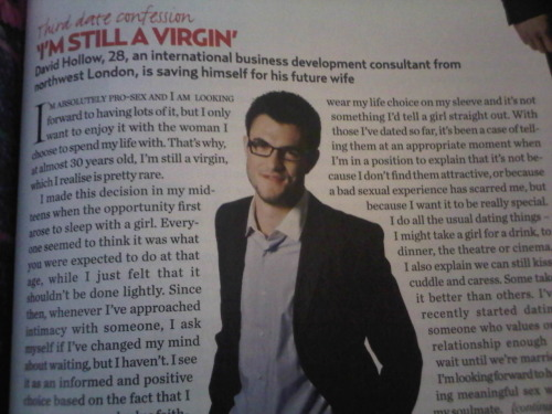 Wow! What a guy, though. The 28 year-old virgin. I'm not sure how I feel about this…