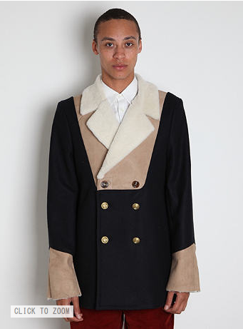 tragedyoftheuncommons:  Margiela buy.  DAT JACKET MARGIELA?   But on a very serious note, I have absolutely no idea what is going on here, and it pains me to think that one of my favorite labels can make something so abominable.  It's like Boardwalk Empire meets Conan the Barbarian.