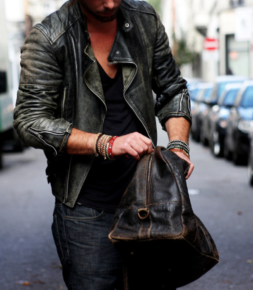 Real men wear real leather jackets!