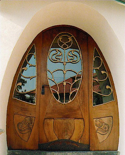 Fantastic Art Nouveau (Jugendstil) door in Darmstadt, Germany