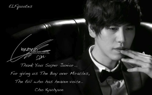 elfquotes:  Thank You Super Junior, we have Cho Kyuhyun :)
