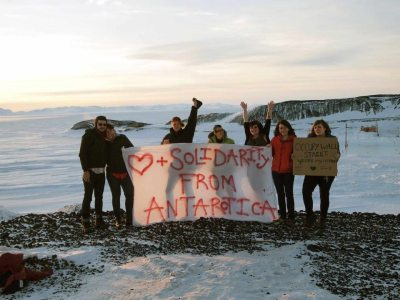 #OWS hits Antarctica. If they indeed are Anarchists, are they Anarchitcans? #occupywallstreet.
