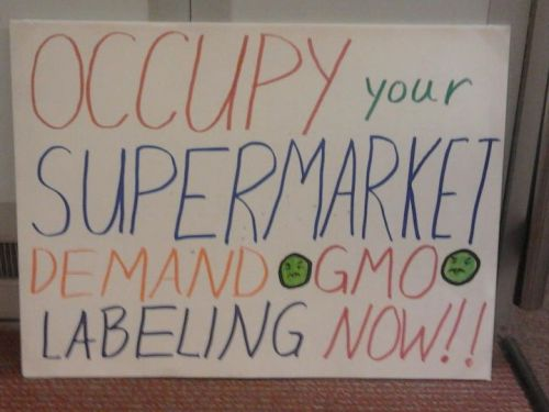 "NO THANKS, Monsanto~ genetically modified NOT FOOD (substantial equivalence is a LIE!!!!) is POISON and we DON'T WANT TO EAT IT!  we will force a tipping point in the market and you can kiss your profits good-bye! why would we want ""FOOD"" from a company that brought us WAR CHEMICALS and makes PESTICIDES?!?! we are ONTO YOU~ even your CEO eats organic, and your corporate cafeterias serve non-GMO foods ""for the safety and heath"" of the employees! hypocrites and criminals!"