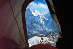 viewfromthetent:  View from Camp 2 by escher is still alive on Flickr.  And to think I thought *my* modest views from the tent were impressive.  Now THAT'S impressive!