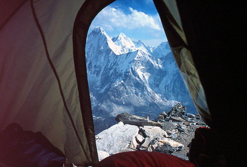 viewfromthetent:  View from Camp 2 by escher is still alive on Flickr.