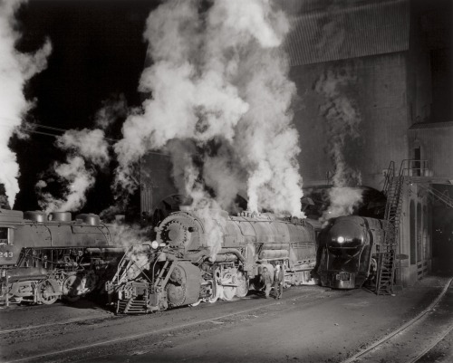 O. Winston Link: Coaling Locomotives, Shaffers Crossing, Virginia, 1955.