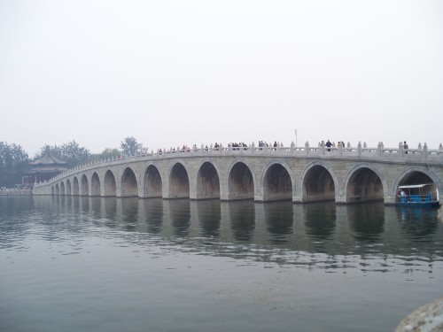 The 17 Arch Bridge at the Summer Palace in Beijing China.