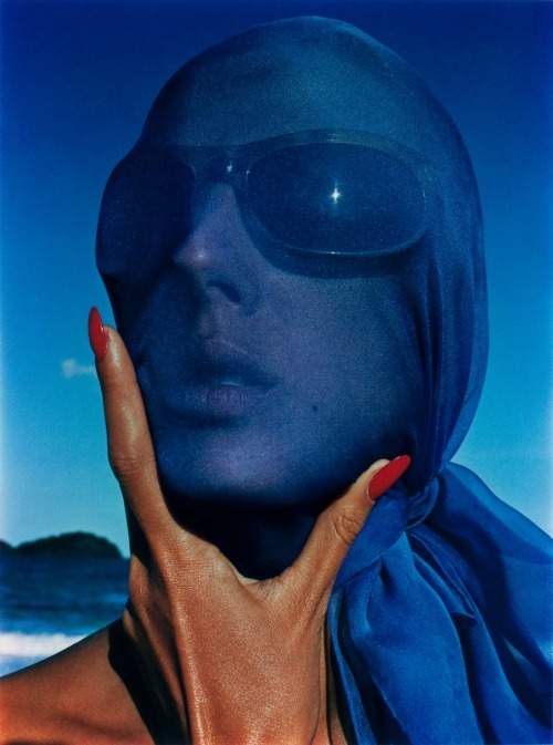 Hiro: Tilly Tizzani with Blue Scarf, Antigua, 1963.