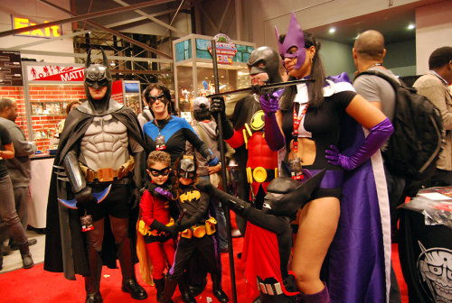 The bat family, one of the 50 best costumes we spotted at New York Comic Con.