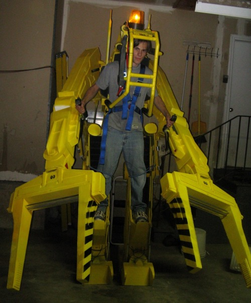 Courtesy our friends at Instructables, 10 Hardcore Halloween DIY Projects. If you, too, want to build this awesome power loader from Aliens, there's still time.