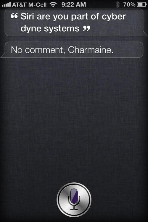 kris-mark: My cousin asking Siri a very important question… At least someone is semi-conscious