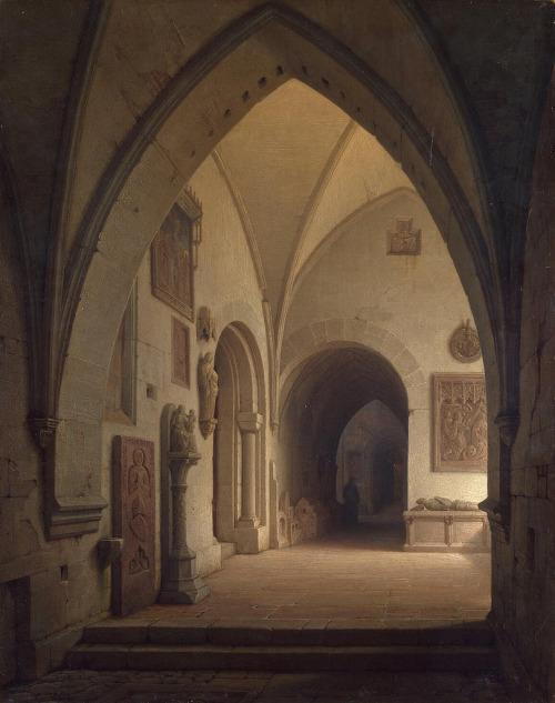 hicockalorum: Emanuel Max Ainmiller - Interior of a Church [1859]