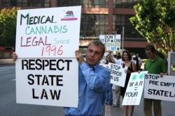"The Feds Can't Stop Medical Marijuana, CA Activists Say | Drug War Chronicle  [Despite] the angst aroused by the intensifying federal campaign, and despite acknowledging the real suffering likely to result — from patients being denied medicine to local governments denied revenues to otherwise law-abiding citizens being subjected to federal raids and prison — advocates said the federal campaign was ultimately doomed to failure. ""It's a serious threat in the sense that it will have an impact on the number of dispensaries and growers across California, and that will translate into hundreds if not thousands of patients being denied their medication and forced into the illicit market,"" ASA's Hermes. ""I don't think that's the intention, but it will certainly be the effect."" But, citing the Bush administration's 2007 threat letter campaign, when warning missives went out to more than 300 landlords, resulting in the closing of some dispensaries, Hermes said the feds were fighting a losing battle. ""They don't have the resources or capacity to follow through on their threats, so there will be an impact, but it will be temporary,"" Hermes said. ""When Bush did it, dozens of dispensaries shut down, but now there are twice the number of dispensaries in the state that there were then. It will be difficult for the feds to have a lasting impact, which is not to say they're not trying. And they're mounting this campaign on the backs of taxpayers."" +"