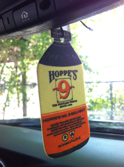 miss-sardonic:  fmj556x45:  I love the smell of hoppes #9. Air freshener.  I cannot believe this is real. I want one.   Sweet mother of gods…