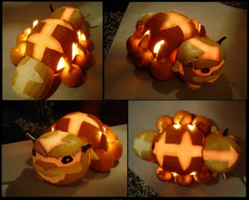 [a photo of several pumpkins carved in such a way that together they form Appa, the flying bison from Avatar: the Last Airbender.] b-train:  Nerdgasm.