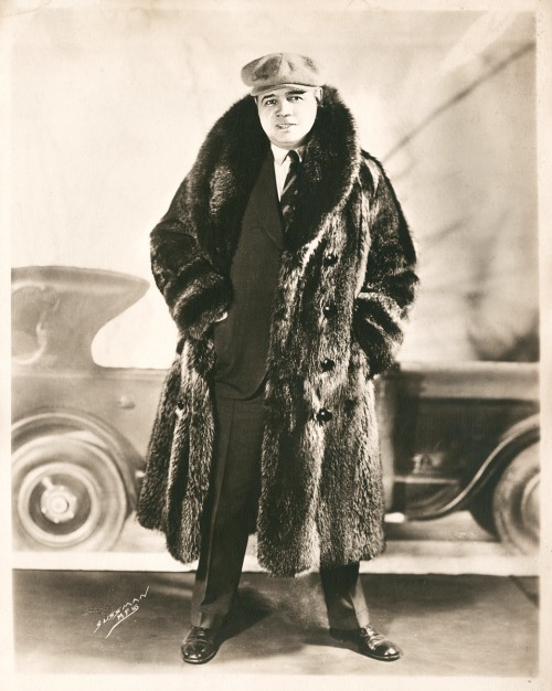 Babe Decked Out In Fur - 1920's