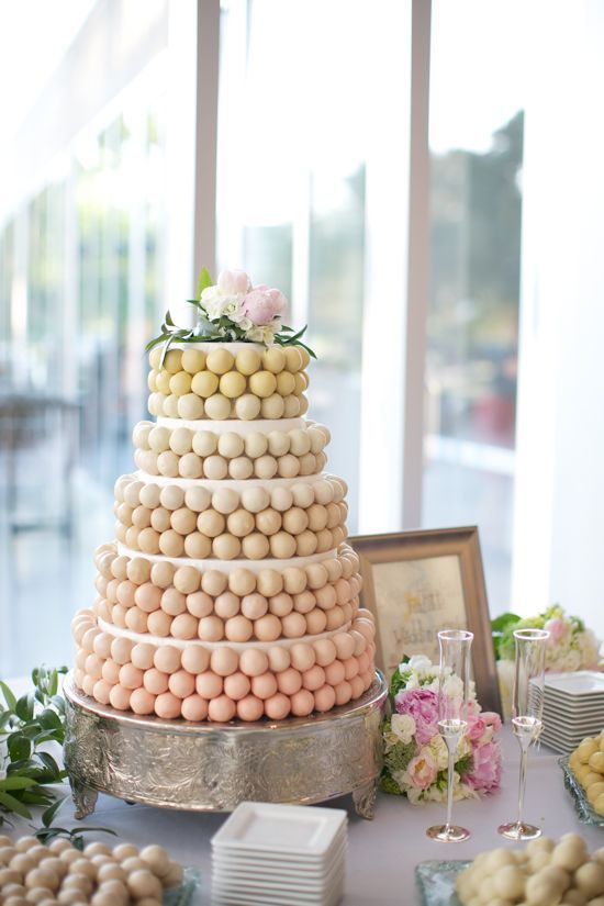 How charming! A cake pop wedding cake