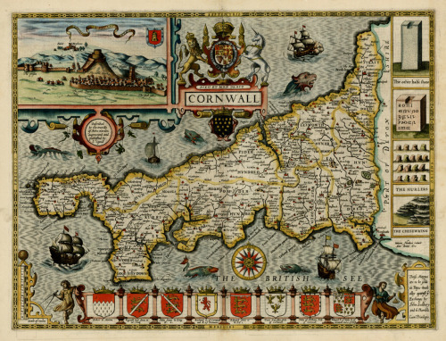 John Speed, 1616, Cornwall, England