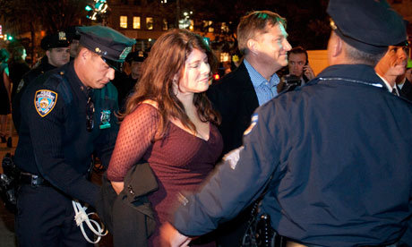 Occupy Wall St: Naomi Wolf condemns 'Stalinist' erosion of protest rights  Author was arrested alongside Occupy Wall Street protesters after she disputed police claims that they had to clear sidewalk                 Naomi Wolf is always awesome, but especially this week.