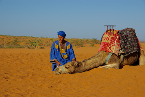 danceswithfaeriesunderthemoon:   Tuareg man with his camel, South Morocco  This picture is so cute i can't even..