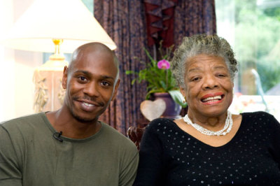 awesomepeoplehangingouttogether:  Dave Chappelle and Maya Angelou