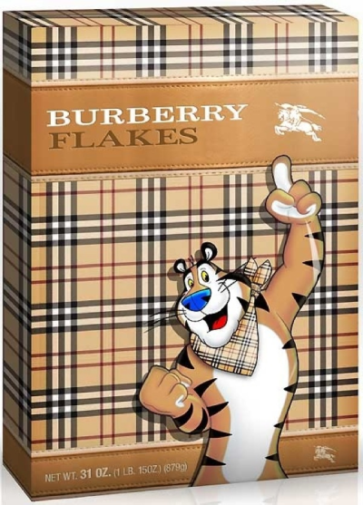 jaymug:  Cereal Couture by Tricia - Burberry Flakes