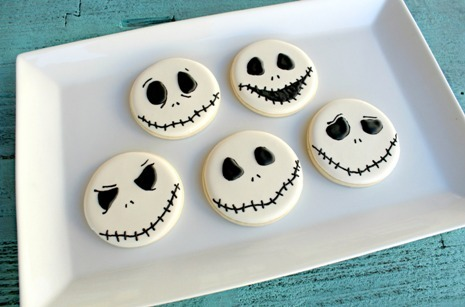 gastrogirl:  jack skellington sugar cookies.