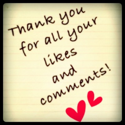 Thank you for all your #likes, #comments, and for #following! They are highly appreciated!  (Taken with instagram)