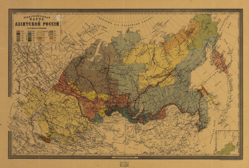 Unknown, 1895, Ethnographic Map of Asiatic Russia