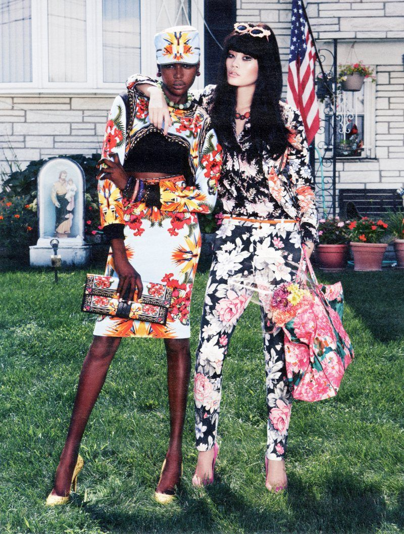 Battle of the floral fuckery. Ajak in Givenchy VS. Ming in Celine. Who wins? Cast your vote  in my ask box.