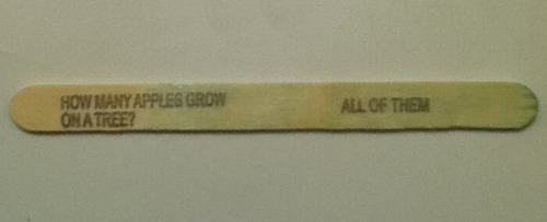 boltsyghost:  indiarussia:  theadventuresofcargline:   #popsicle stick jokes: castiel edition    Well played